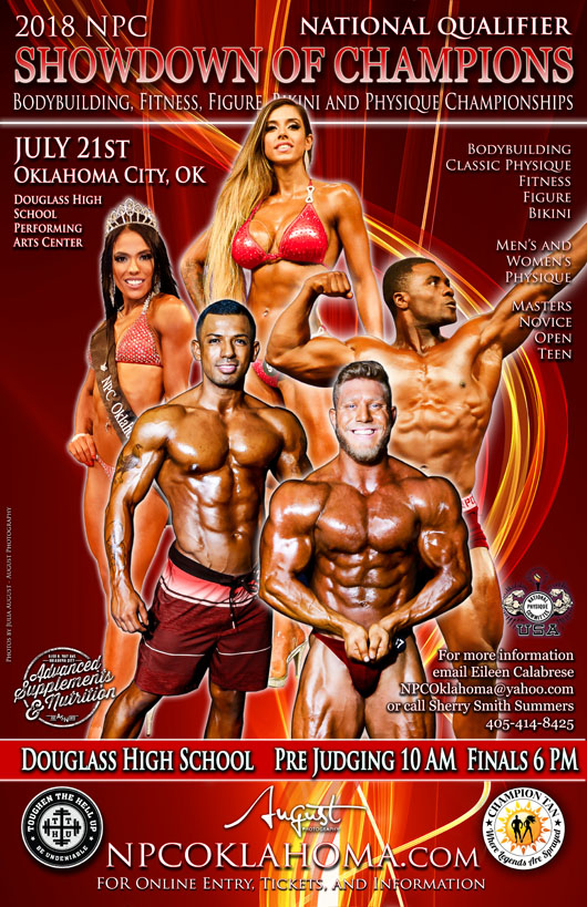 2018 Oklahoma Showdown of Champions Bodybuilding Show Poster